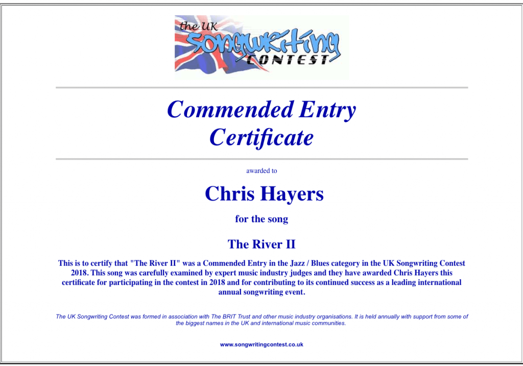 The River II - UK Songwriting Contest
